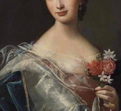 a-l-ancien-regime:  Portrait of a Lady- detail French School  Oil on canvas, 74 x 61 cm Collection: Victoria Art Gallery