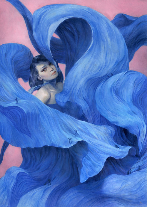 Across A Blue-Billowed Crevice ~ Tran Nguyen