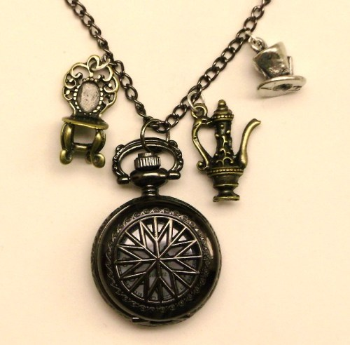 Mad Hatter Pocketwatch Pendant by *pervyyaoifancier
