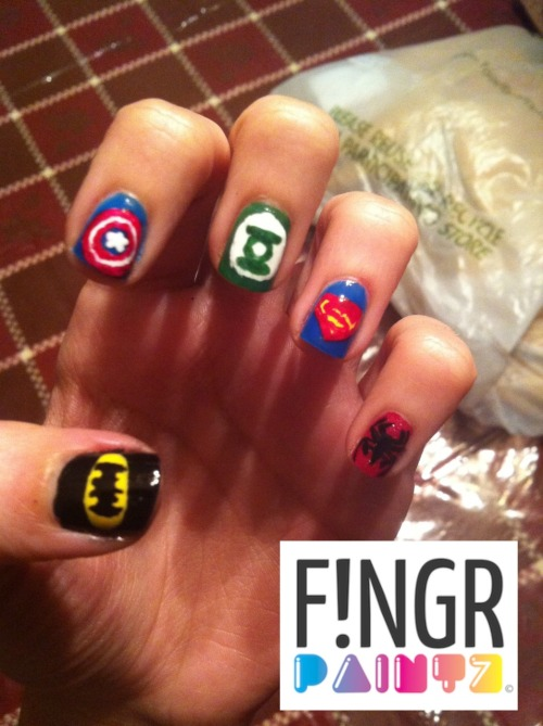 Super hero nails!!! <3 Laur
