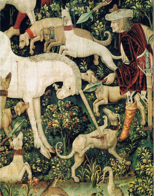 "myaloysius:  Flemish tapestry; ""Hunt for the Unicorn"" 1500s from the Metropolitan Museum of Art"