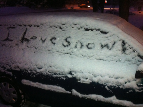 Nice that winter arrived today. This message thx to Supergirl.