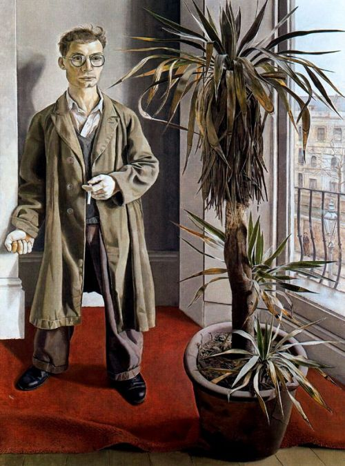 brilliantmistake:  Lucien Freud, Interior at Paddington, 1951 (try the jigsaw!)