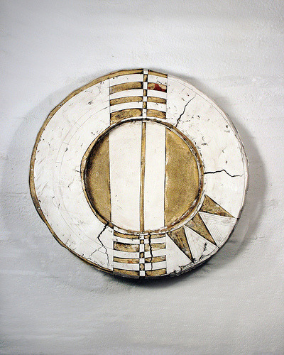 neutralnotes:  cross section 21x21x4.5  (by psannit) Patricia Sannit Ceramic