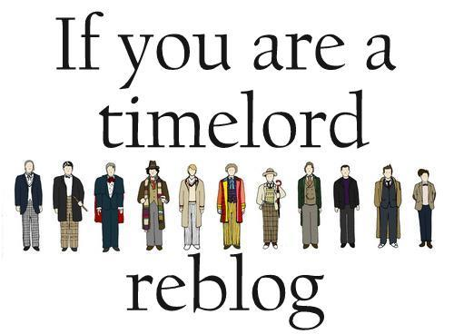 If you are a time lord….