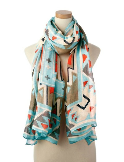 Native pattern scarf! via theglitterguide & Stocking Stuffers /
