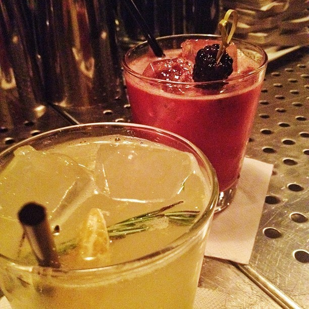 Gin/clementine/thyme and scotch/blackberry/ (Taken with Instagram at The Mulberry Project)