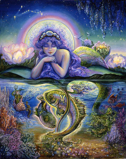 Pisces: February 19—March 20 Neptune, God of the Sea and master of illusion and mystery, rules Pisces. Those born under this sign have an affinity for the performing arts, music, writing…anything that allows them to dream and create a more beautiful world. This same tendency toward illusion can also be expressed in self-delusion, as Pisces would rather ignore anything that isn't in keeping with their lovely vision of the world. Pisceans possess a high level of emotional intelligence, easily perceiving the feelings of those around them, which makes them wonderful teachers and guides of the soul.