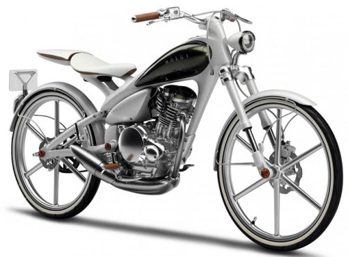 125cc four-stroke engine, power in the 10 to 15 horsepower range, 188 mpg, top speed 75 mph, sexiness to boot. Consider me intrigued Yamaha. *Via Wired