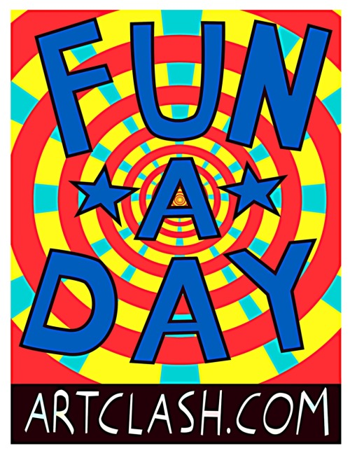 Fun A Day is an art show graciously stolen from the Philadelphia based ArtClash collective. It's simple: During the month of January, do one thing. Any one thing.  Do it every day, for the whole month. Document it, in some way. Then  show it all off at our show in February! Photograph. Fingerpaint. Cook. Dance. Doodle. Plant. Build. Sing. Dismantle. Fly. Do a thing. Do your thing. Questions? funadayboulder at gmail dot com