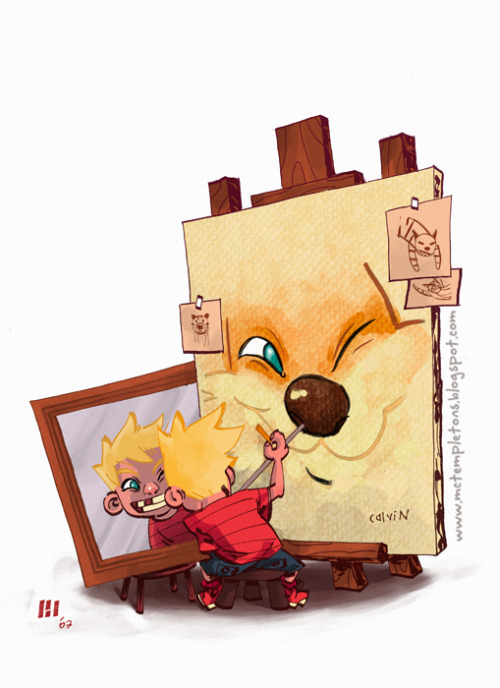 I haven't presented alt art from Calvin and Hobbes — one of the greatest comic strips of all time — here in a while and Jaime Posadas's above piece was too adorable to pass by.