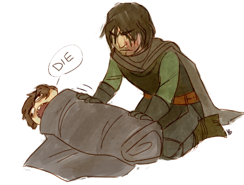 ybee:  you guys I just the Hound rolled up Arya in a blanket burrito at night I can't- this book someone help