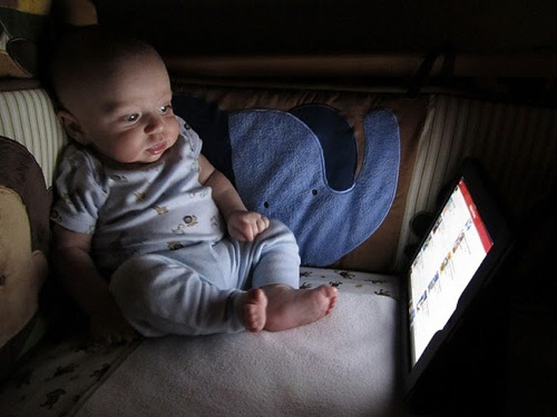 Frank Googles himself once before bedtime and once after he wakes up to pee.