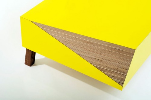 CUTTING CORNERS   A beautiful coffee table design by David Restorick via pandamandium gregmelander: