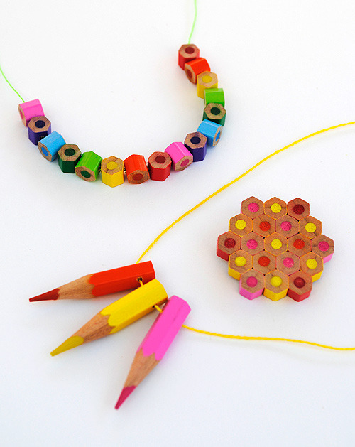 craftjunkie:  Colored Pencil Jewelry {How to} Found at: designmom