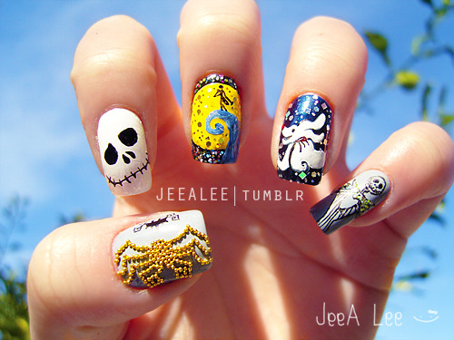 jeealee:  The Nightmare Before Christmas Nails