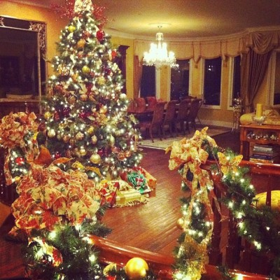Christmas Time at mom's house :)