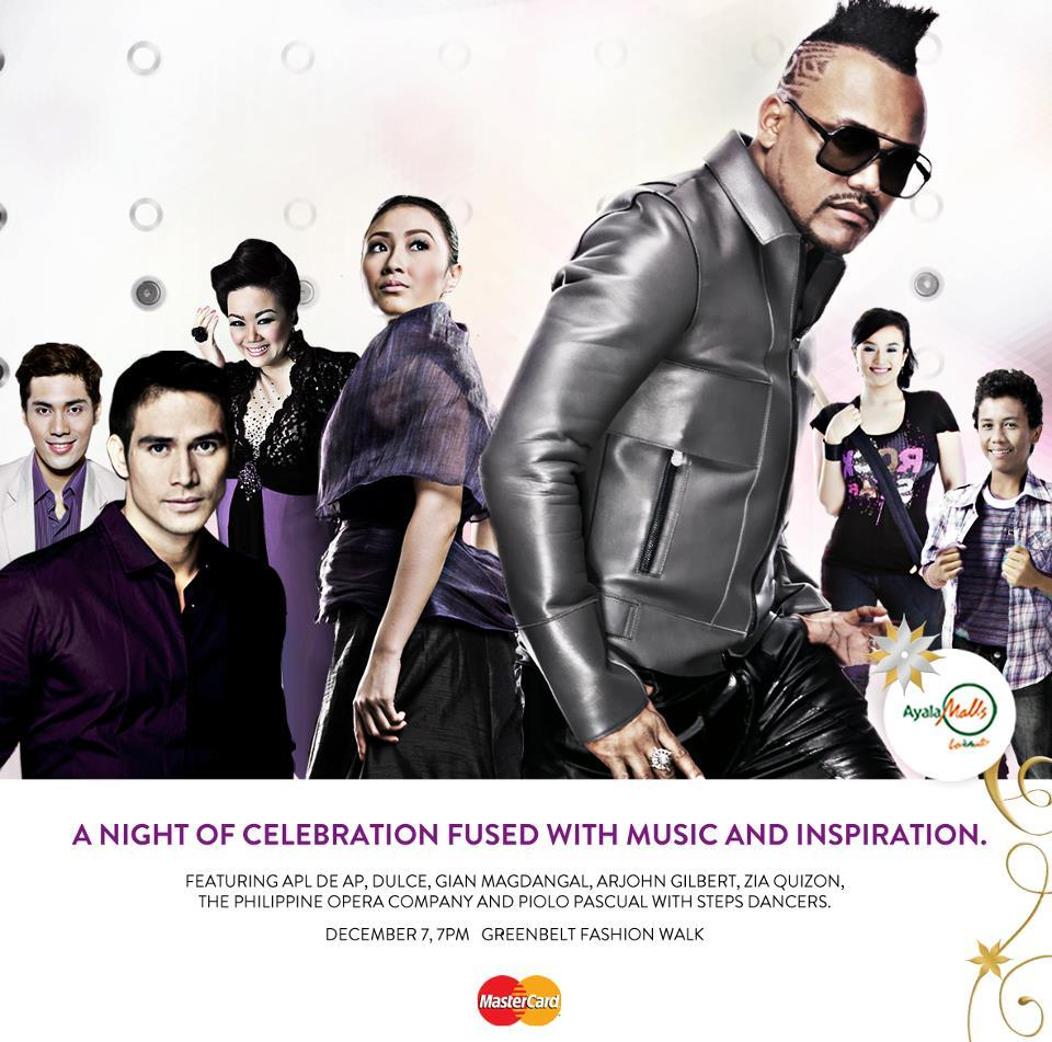 "Ayala Land  presents  ""A Night of Celebration Fussed with Music and Inspiration""  07 Dec 2011 
