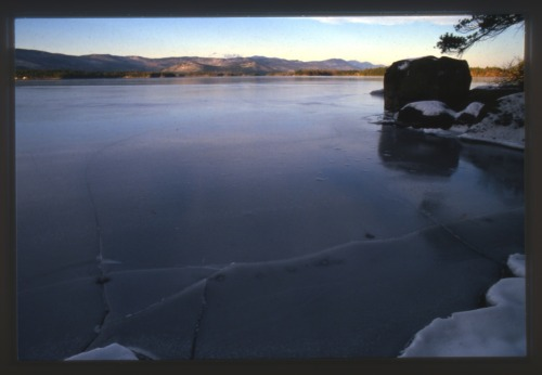 Squam Lake, New Hampshire, December 1989.