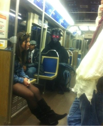 I'd be pretty concerned. #subway #monster
