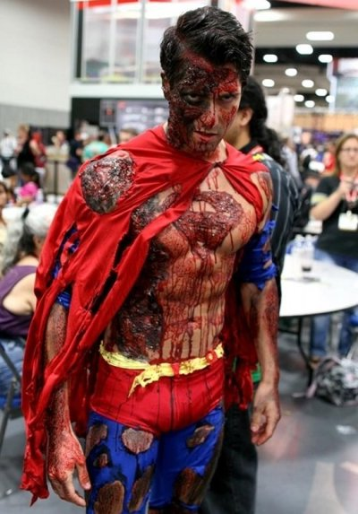 Cause cosplay is kind cool? #Zombie #Superman