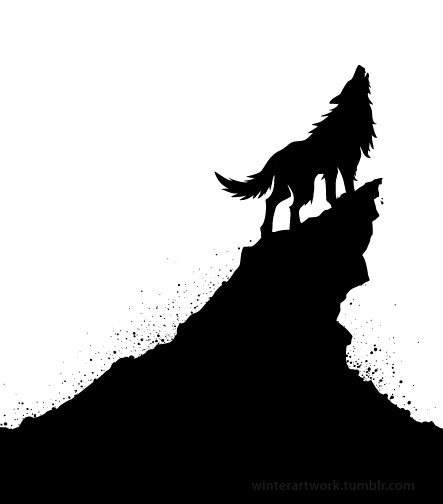 """Lonely Wolf"" available on Threadless"
