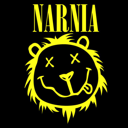 Smells Like Aslan Spirit… Check out the new Narnia/Nirvana inspired design by artist Mat Phelan.  ENJOY!
