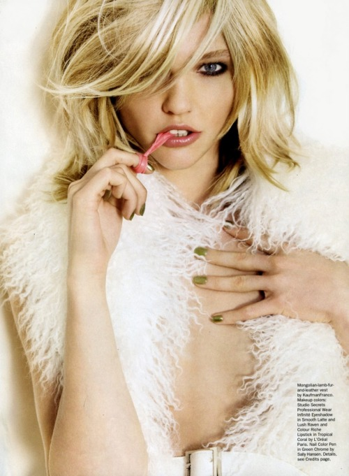 fuckyeahvintagediary:  Sasha Pivovarova in Allure October 2010 by Steven Klein