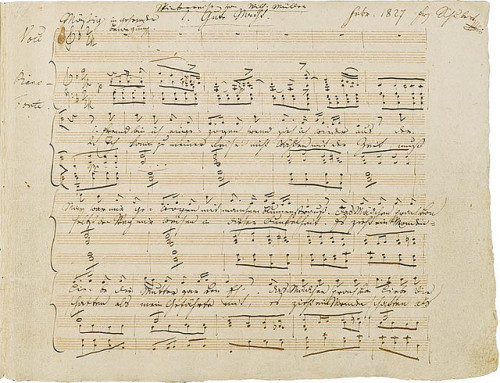 leadingtone:  Manuscript of the first page of the Winterreise cycle.