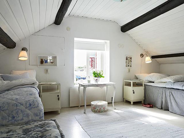 myidealhome:  attic room (via Freshome)
