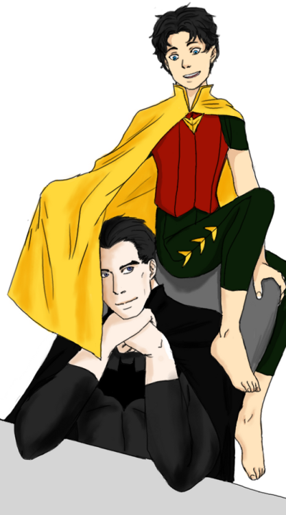 wayne-manor:  ciatri:  Adorable Jason keeping Bruce from doing his work.And Bruce seems totally okay with it.This is for the fantastic Mr.Alan Black who needed something cute.My very simplified take on the reboot!Jason Robin costume he wears in #3 of Red Hood and the Outlaws.   You are seriously beyond sweet.  This is exactly what I needed—thank you so much. :) Jason is the cutest goddamn thing. And Bruce, so collected and bemused by the attention-seeking.  It's fantastic.  I love their dynamic here.  You've done a great job; I really am intensely touched that you did this. It makes me smile so much it hurts. A thousand times thank you. <3  Aw, you're welcome and thank you so much :D I'm really glad you like it.