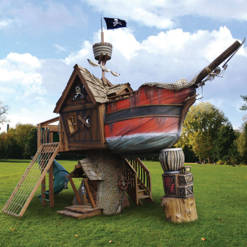 ianbrooks:  The Pirate Ship Playhouse Available for purchase at hammacher for the bargain bin price of $27,000 USD.  (via: thisiswhyimbroke)