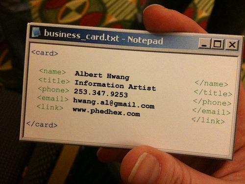pinto:  Albert Hwang's Business Card (by caseorganic)
