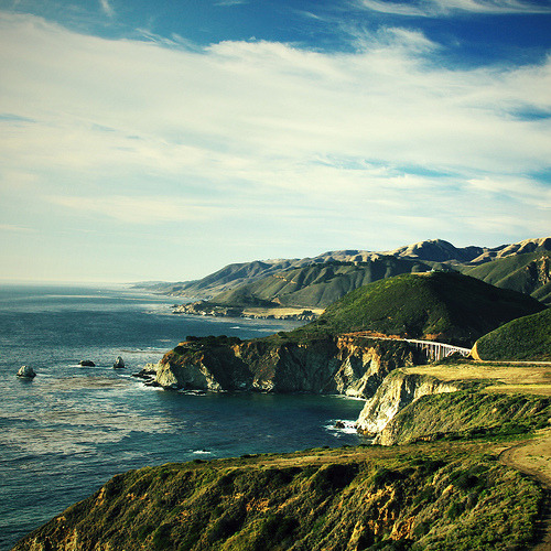 theworldwelivein:  Bixby Bridge, Big Sur, California©  Kristen Drozdowski.  ok, yes, it is definitely time to make the trip here.