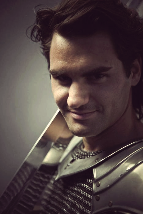 Roger Federer as King Arthur photographed by Annie Leibovitz
