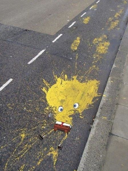 laughingsquid:  The Death of SpongeBob SquarePants  Nooo! Sponsbob :(