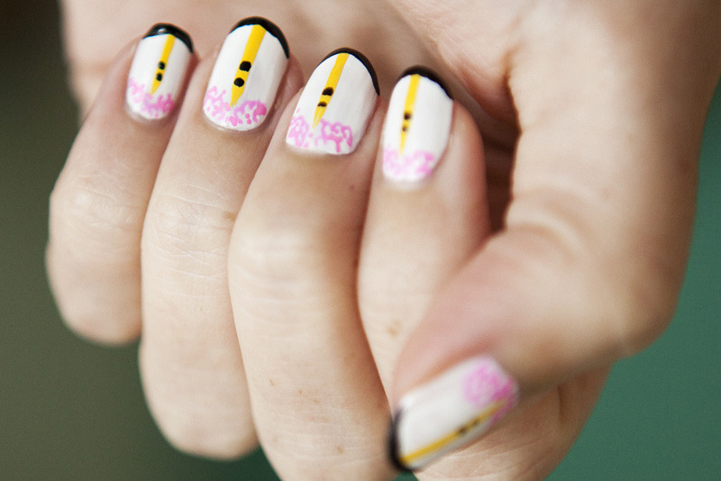 Elizabeth Monson, queen of nail art and the mind behind Move Slightly, shows us how to Prabal Gurung-ify your nails in our January Issue. We love.