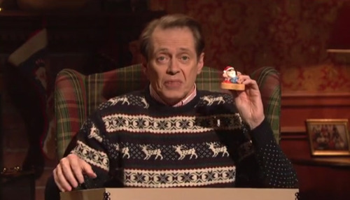 """Ornaments""Buscemi Role Equivalent: Theodore Donald 'Donny' Kerabatsos, The Big Lebowski The final sketch of the night was odd and lovely, and I only wish we got  more Buscemi and less Wiig. I could watch this character describe  Christmas ornaments while ""beep boop beep""ing all day. Made me laugh to  beat the band… parts, anyway.  Course — I didn't like seein' Donny go. Read more: Saturday Night Live: Rating the Episode on a Steve Buscemi Scale"