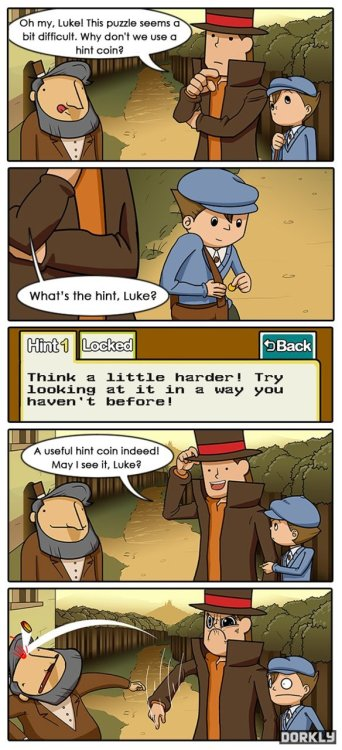 Professor Layton Takes a Hint (click for larger)