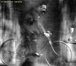 Man on Bicycle, 1910 by manchesterarchiveplus on Flickr.