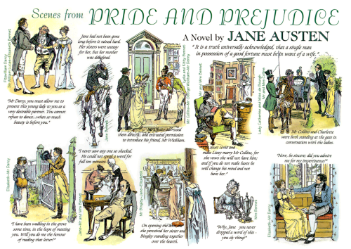 bitsofivory:  Scenes from Pride and Prejudice