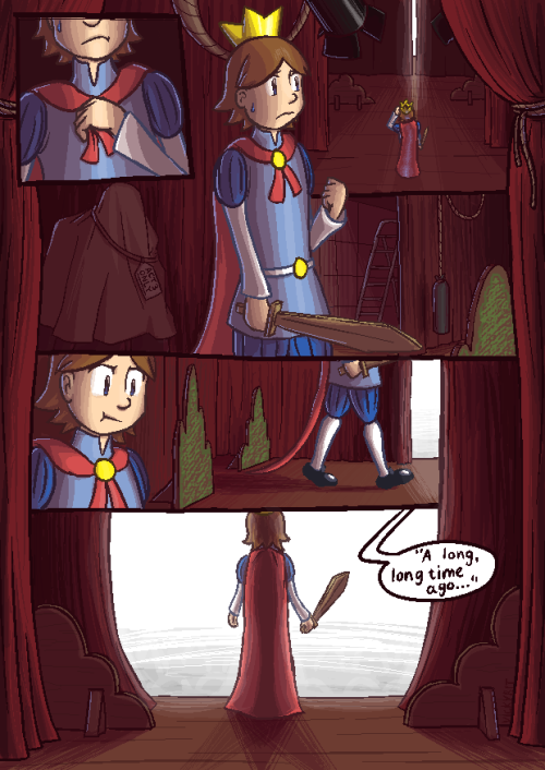 Collab-Comic - Page 01: VickyBit! —- => Next page —- So here's the first page, which is my own, and as will be a thing for all the other pages too, I'll write a short thing about the artist of the page, because plugging people and advertising their own blogs or sites is the least I could do as thanks for the people participating in this thing :V  That being said, I'm VickyBit, the one who started up this project in the first place, and when not starting all the projects ever, I generally draw arts and sometimes run a webcomic called Sidequest Story! Yeah! And with that, it is now up to CrazySunshine to work on the next one so it can be posted next Monday! Go go go let's GO, we're getting this thing on the ROAD! Also check the sidebar links on the blog for more info if this is your first time even hearing of this strange and scary Collab-Comic thing!