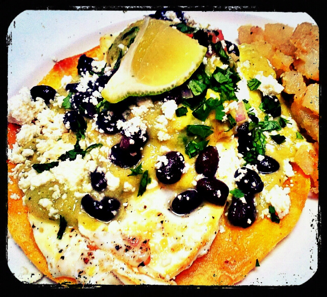 huevos rancheros by Kate Cowan - Delicatessen SoHo photo (&eaten by) me (frame23.tumblr.com)