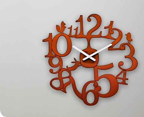 yearslater:  (via Pip Acrylic Wall Clock in Brown - Gretel)