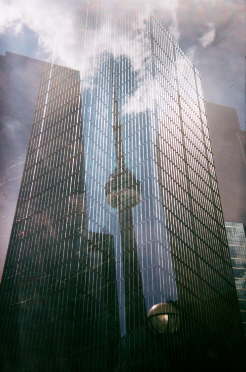 CN Tower - double exposure