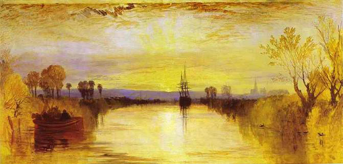Chichester Canal (circa 1828), oil on canvas | painting by J. M. W. Turner