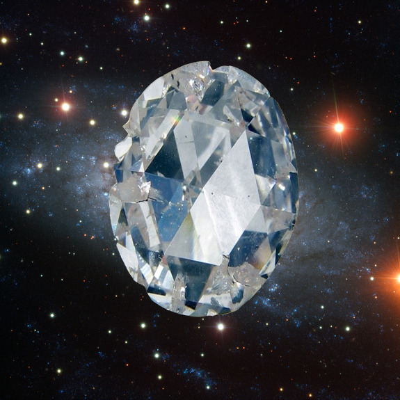 "the-star-stuff:  Some Alien Planets Could Be Made of Diamonds, Study Finds Some alien planets could be packing some major bling, according to a new study that predicts planets around other stars could be made largely of diamond. But while such a place might sound beautiful, you wouldn't want to visit, scientists say. A diamond planetwould very likely be devoid of life and incapable of supporting living beings like us. ""We think a diamond planet must be a very cold, dark place,"" Ohio State University Earth scientist Wendy Panero, leader of the study, said in a statement. These potential giant terrestrial planets, whose insides could be up to 50-percent diamond, are dubbed ""carbon super-Earths"" by scientists. [Gallery: The Strangest Alien Planets] read the full article here  Black Dwarfs will also be, technically, diamonds in the sky."