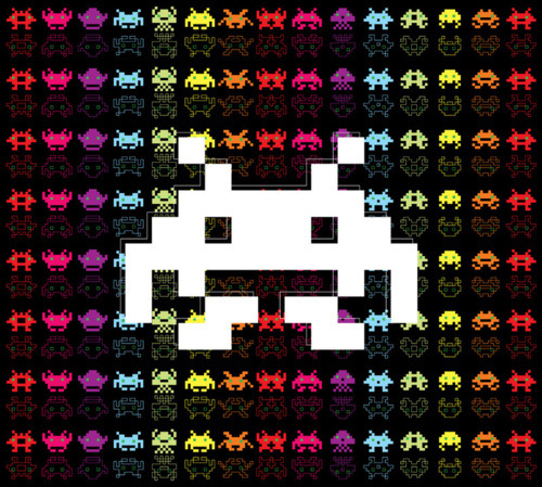 Space Invaders - by Ornaart via GeekRest