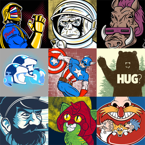 fanboy30:  For all your geek needs, visit my Redbubble page. It's bursting with pop culture mash ups, retro 80's cartoon shows and obscure designs. The perfect gifts for the fanboy/girl in your life :)