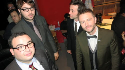 "fuckyeahmattmira:  ""The best dressed @nerdist, @jonahray, @phirm and I will ever be at the same time. Unless one of us dies."" From@mattmira on twitter    #Sexy men appropriate tag is appropriate"